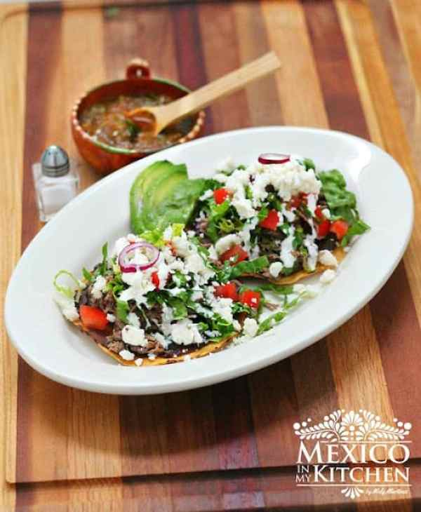Shredded Beef Tostadas, easy and delicious treat.