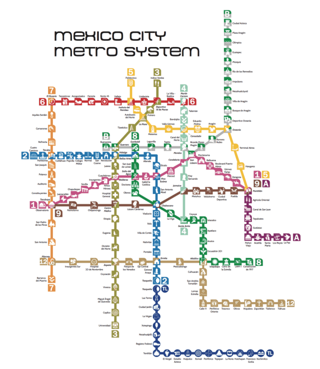 La Subway Map With City Map.Updated Metro Map Mexico Metro