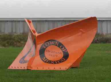 Mexico Town Highway plow blade