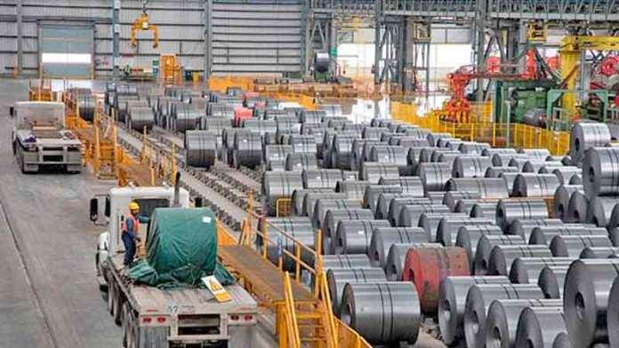 Por parálisis industrial en EU, caen exportaciones de acero en México