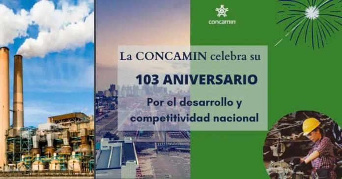 Concamin celebra 103 años de existencia