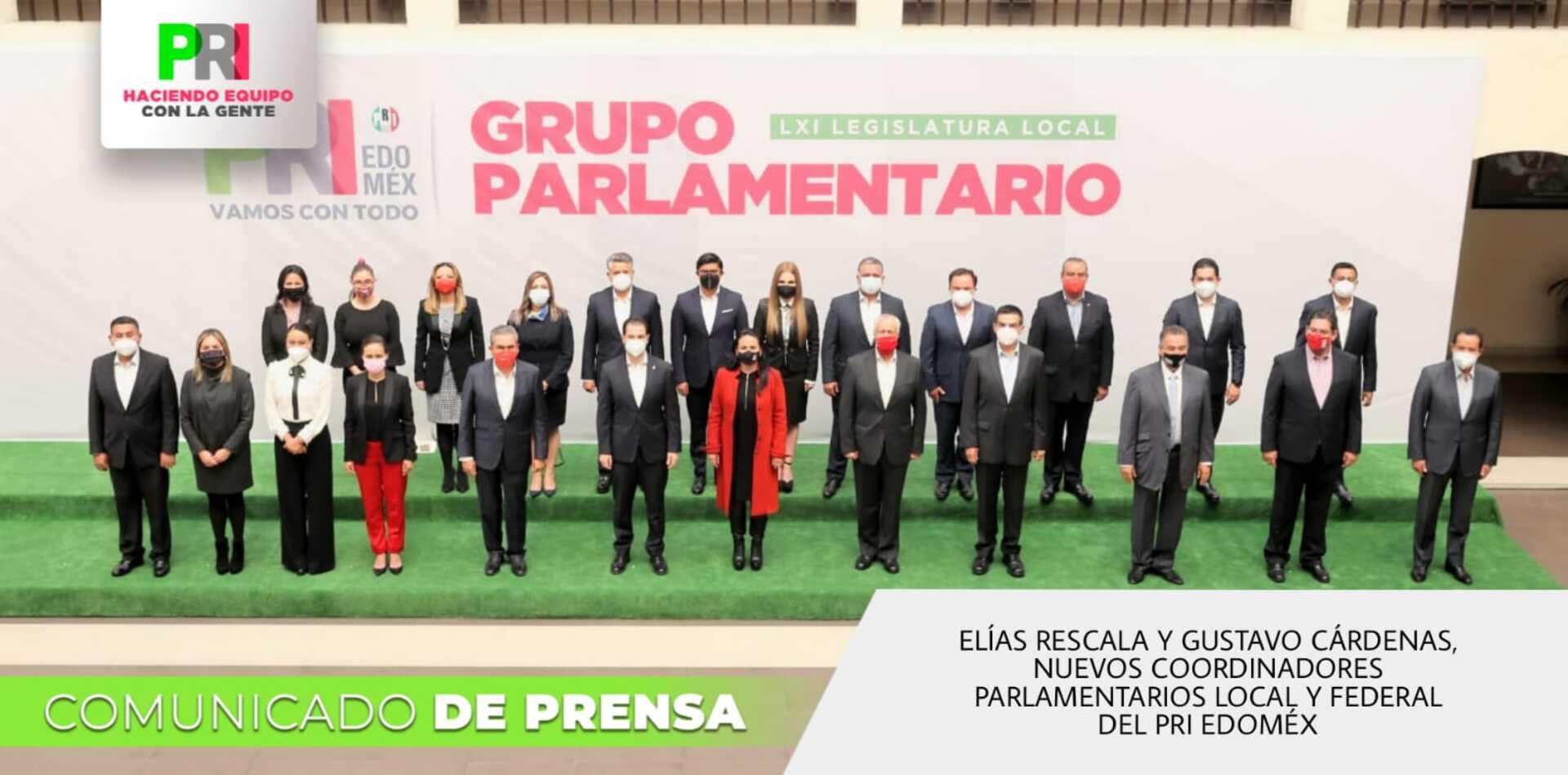 Elías Rescala y Gustavo Cárdenas, nuevos coordinadores parlamentarios del PRI EDOMÉX