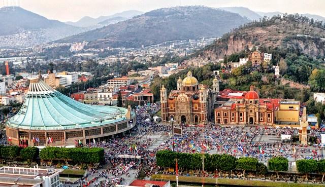Basílica de Guadalupe, peregrinos.