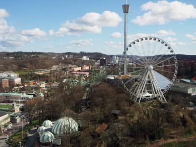 view over Liseberg park