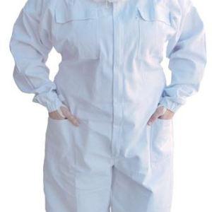 economy suit with round veil & hat