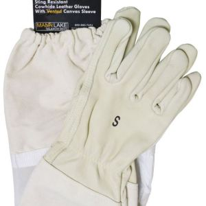 vented cowhide glove
