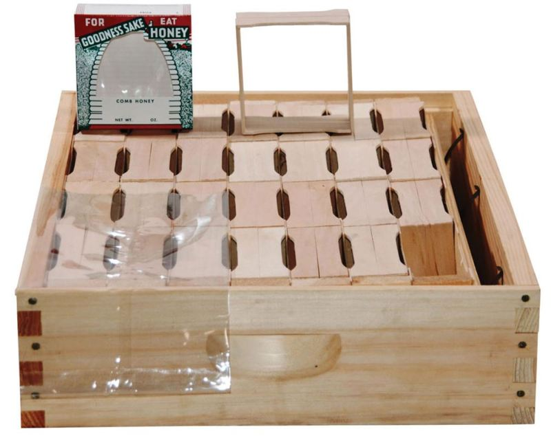 comb honey super kit with basswood section boxes