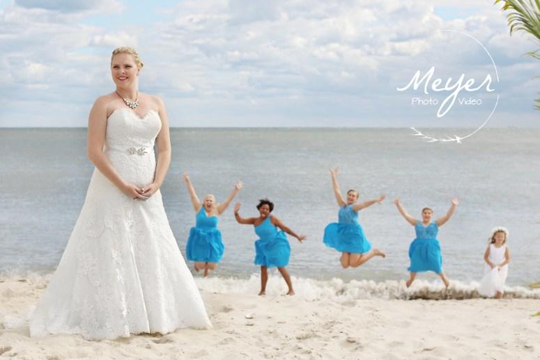 cape may nj beach wedding bridesmaids