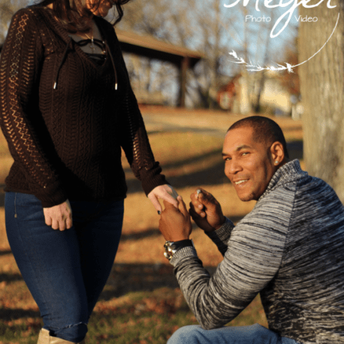 couple putting on ring