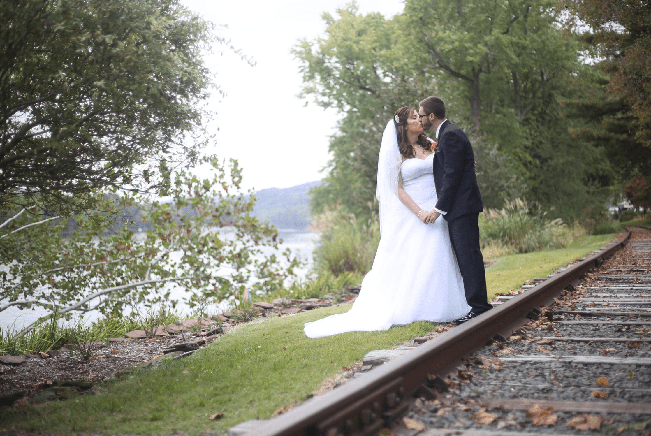 wedding railroad tracks