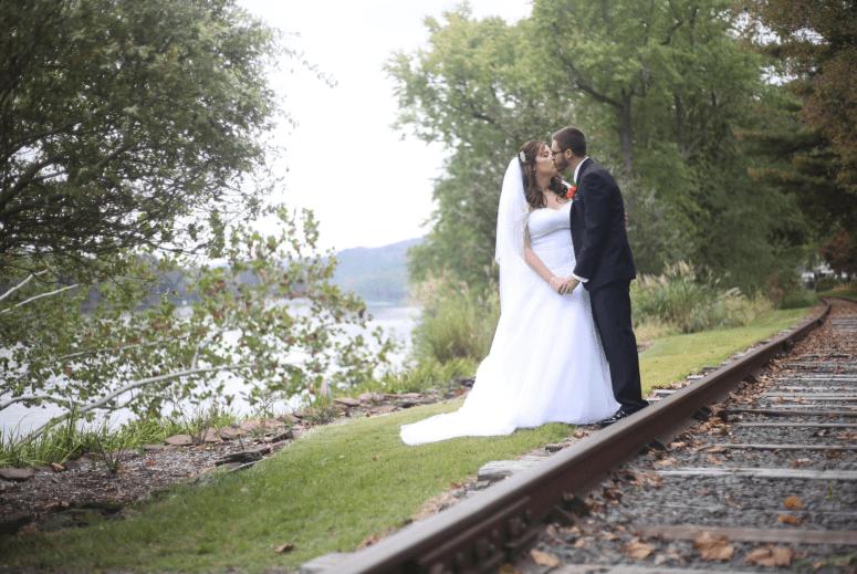 wedding railroad tracks