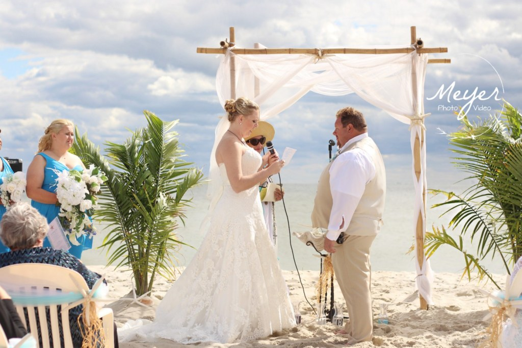 vows on cape may beach