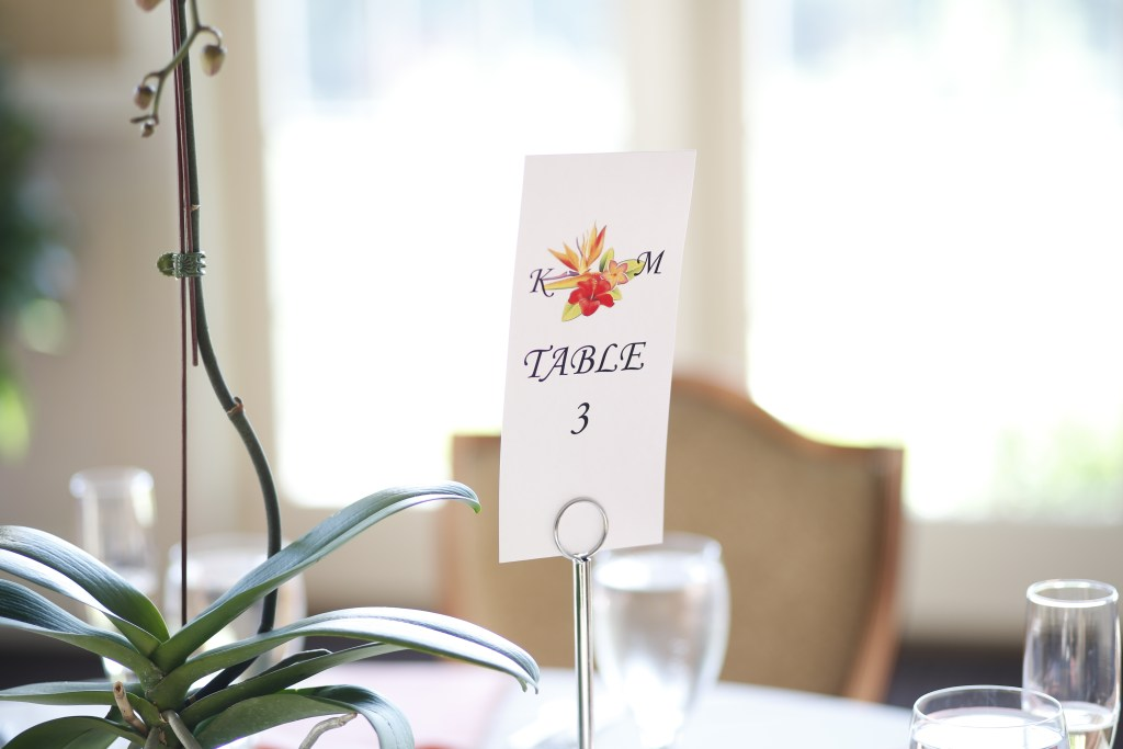 wedding table reservation