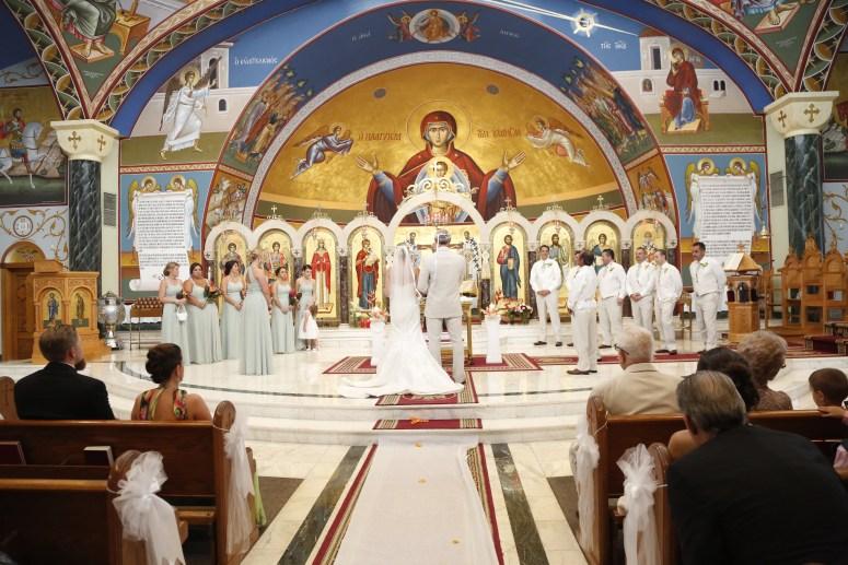 beautiful greek wedding