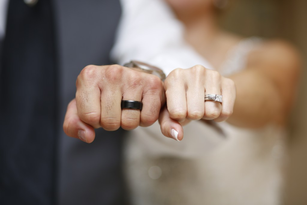 wedding rings newlyweds