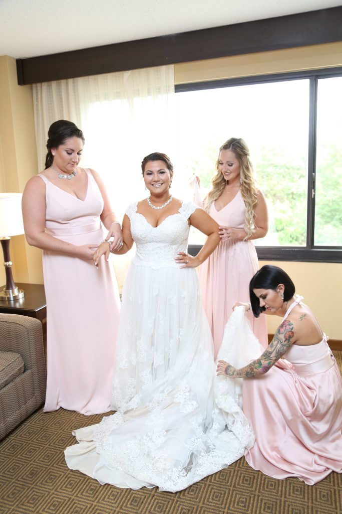 the bride with her girls