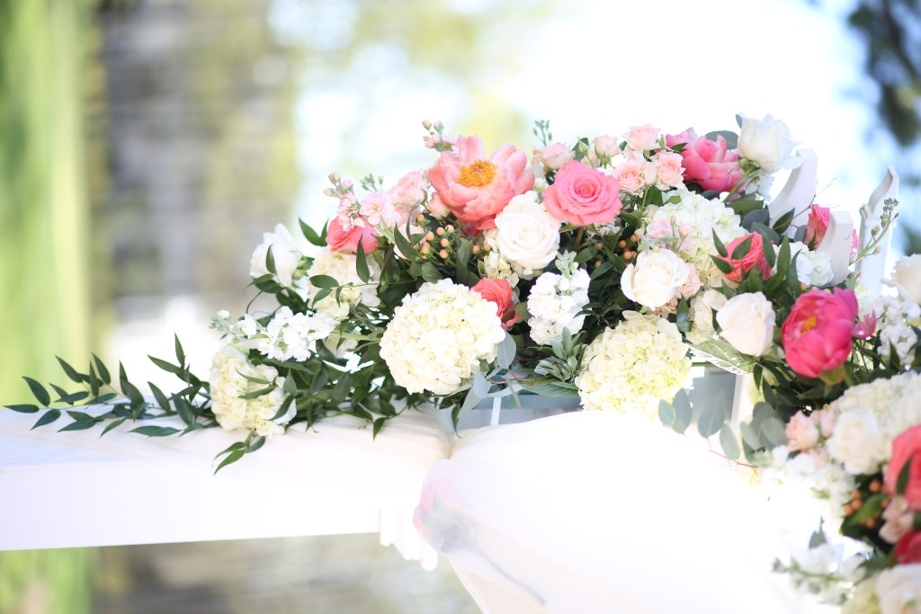 bouquet of flowers at wedding in 2019
