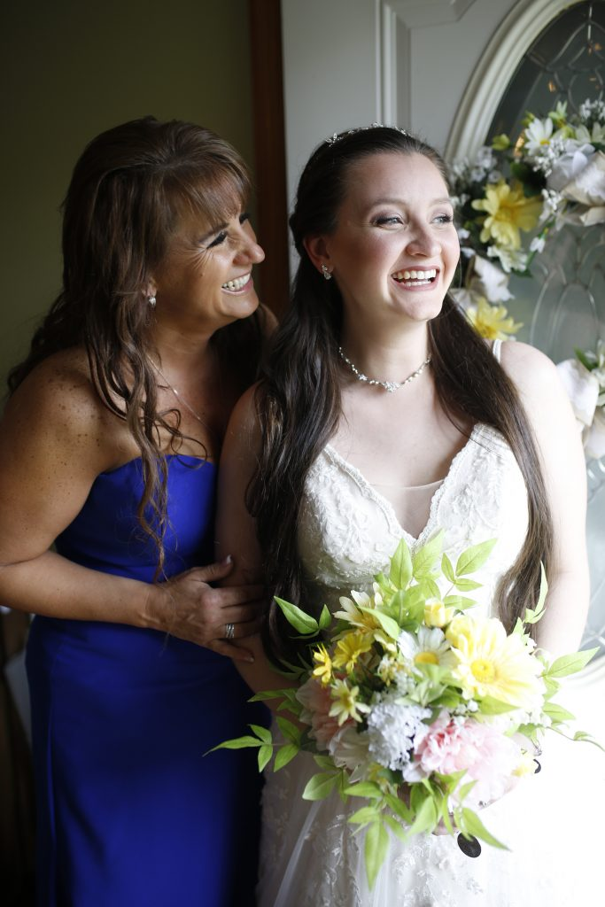 bride smiling at wedding in New Jersey