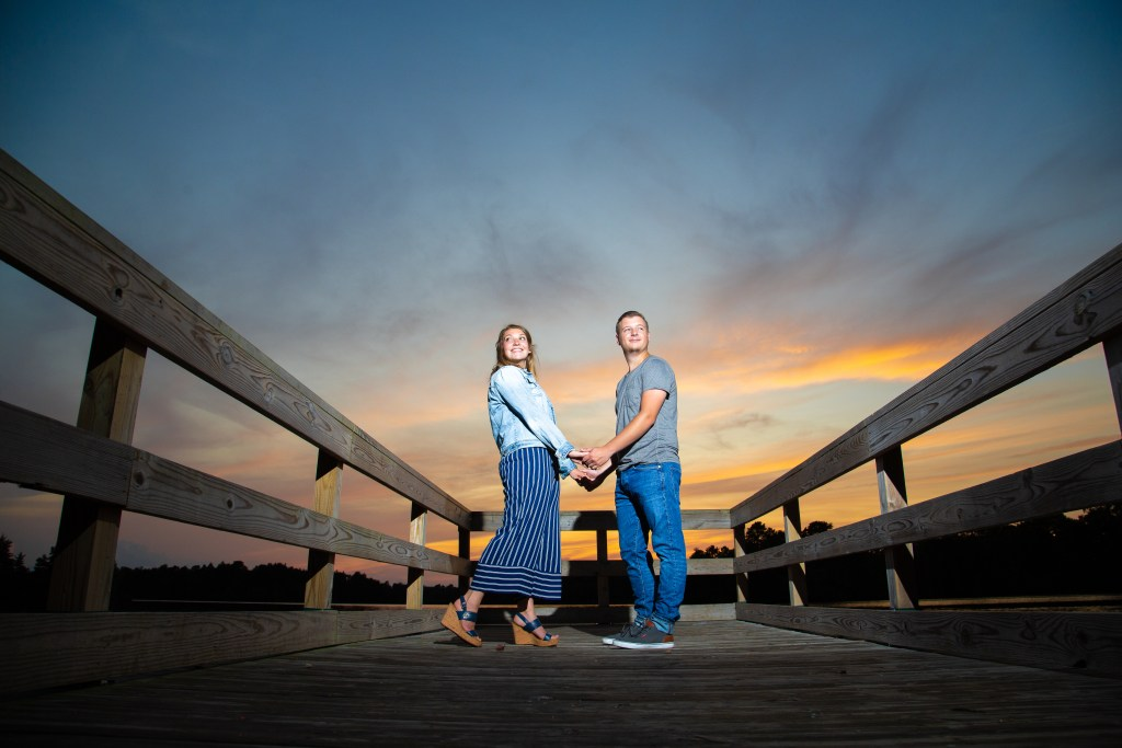 lake horicon nj sunset engagment photo