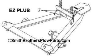 MeyerST  Meyer Plow A Frame and Sector Parts Diagrams for