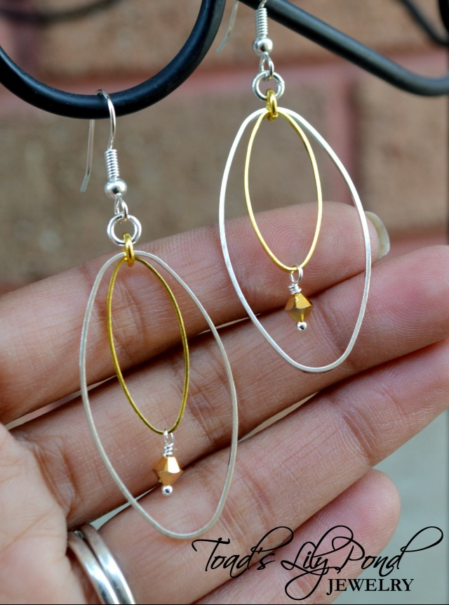 Two Tone Earrings Mixed Metal Jewelry Gold And Silver