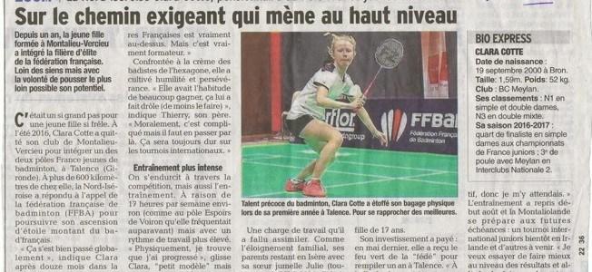 Zoom sur notre joueuse Clara Cotte
