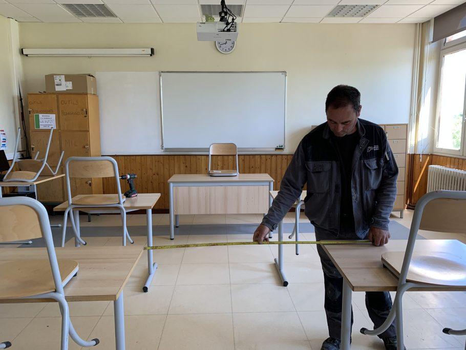 réaménagement des salles de classes EPL de Haute-Corrèze