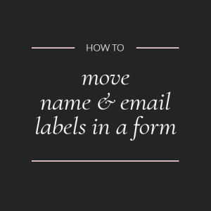 Move contact form labels to inside fields