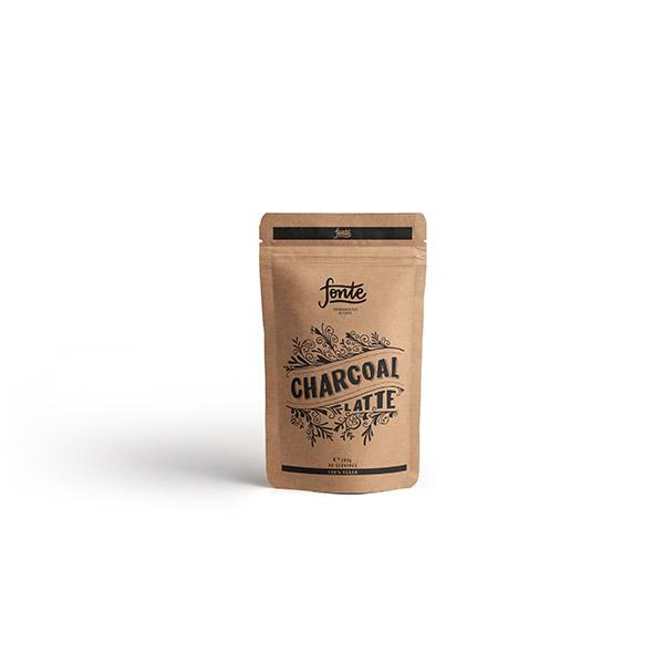 Fonte Charcoal Latte Meza Coffee