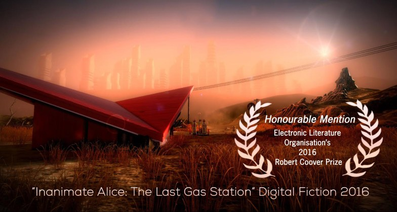 """""""Inanimate Alice: The Last Gas Station"""" Digital Fiction 2016"""