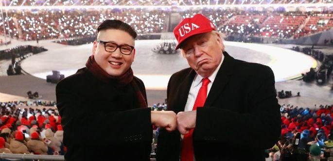 Donald-Trump-Kim-Jong-Un-Impersonators-At-Winter-Olympics