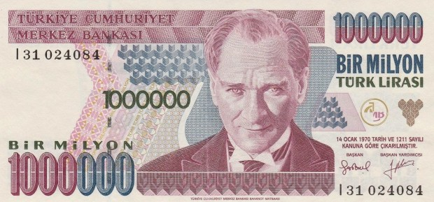 1-Million-Turkish-Lira-Note