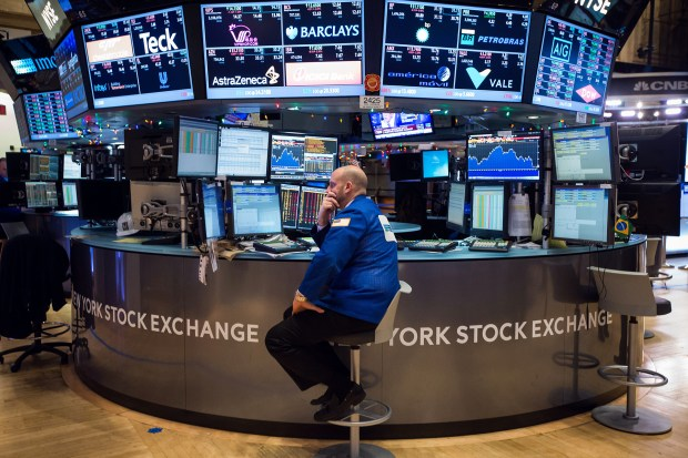 Trading At The NYSE As U.S. Stocks Tumble After Selloff in China Renews Growth Concern