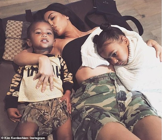Kim Kardashian and kids