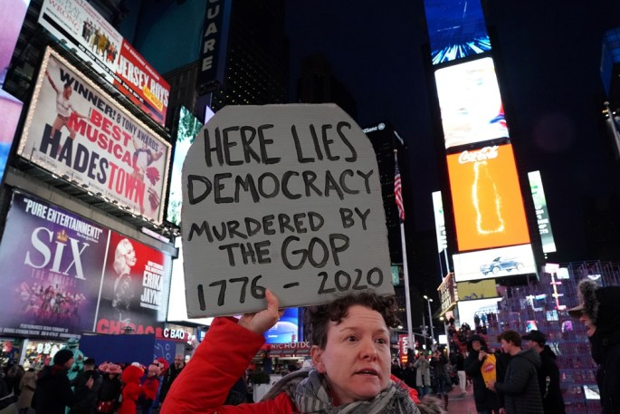 NYC protester