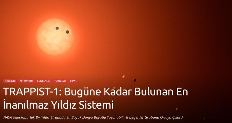 Video Haber: UZAY TRAPPIST-1: Bugüne Kadar Bulunan En İnanılmaz Yıldız Sistemi