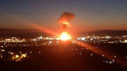 İspanya'nın katalanya bölgesinde bir sayide Büyük patlama kimyasal alarmı verildi