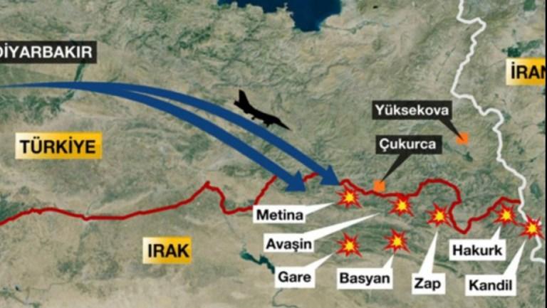 Metina'ya kara operasyonu başlatıldı