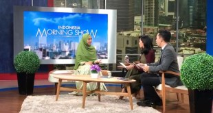 Oki Setiana Dewi en el ´Indonesia Morning Show´, hablando de ´A Tile for Seville´