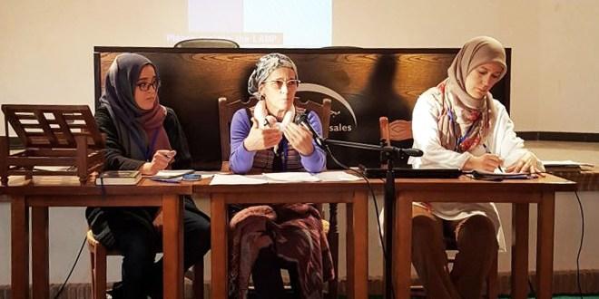 "Hajja Atika Jimenez at the ""I Meeting of Muslim Women of Spain"""
