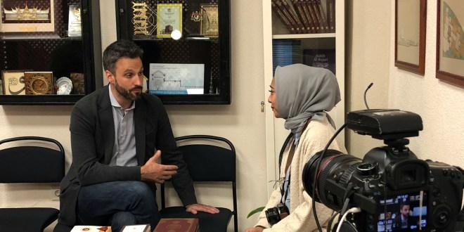 Entrevista para NetMedia TV de Indonesia, en la Fundación Mezquita de Sevilla