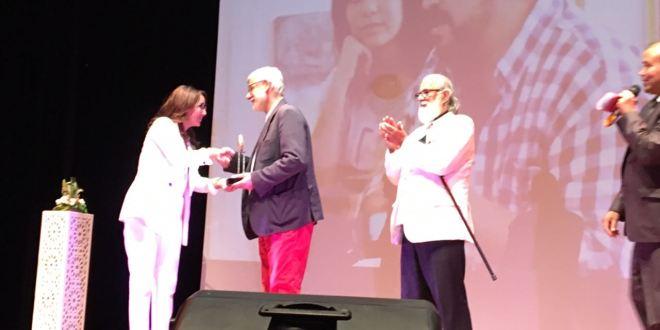 'Diálogo de la letra y el pincel' de Hajj Jalid Nieto y Hajj Ahmed Ben Yessef, en el Festival internacional de las artes plásticas de Settat