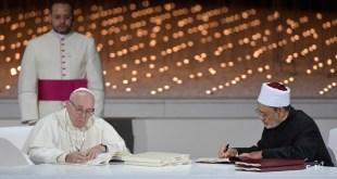 La fraternidad humana por la paz mundial y la convivencia común, Papa Francisco e Imam Ahmed Al-Tayyeb