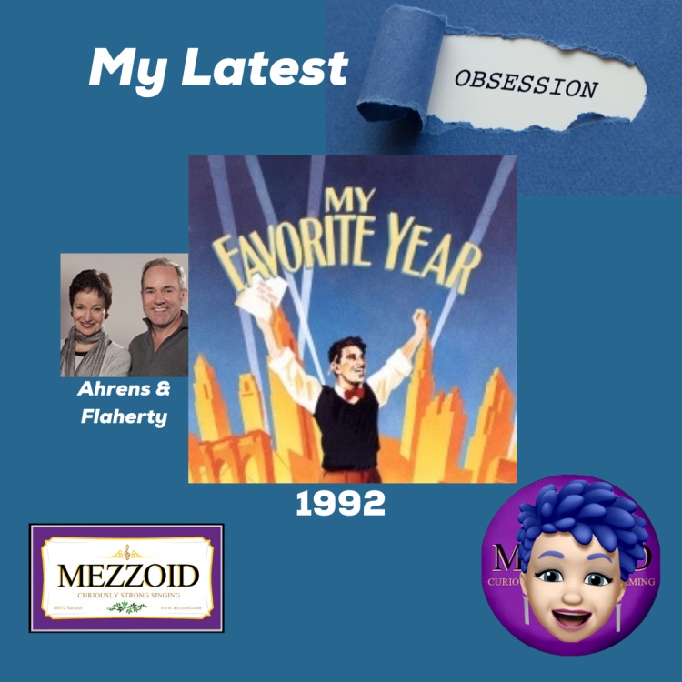 My latest obsession - the musical My Favorite Year by Ahrens and Flaherty