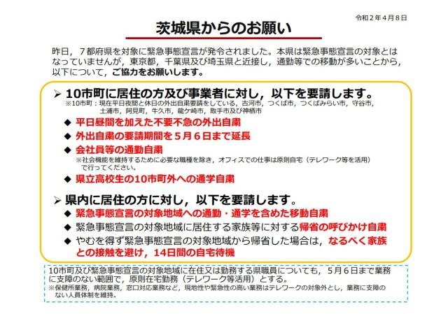 茨城県の緊急事態宣言