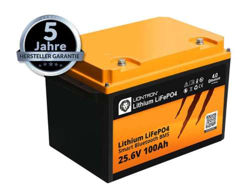 Liontron LiFePO4 LX Smart BMS 25.6V 100Ah 7