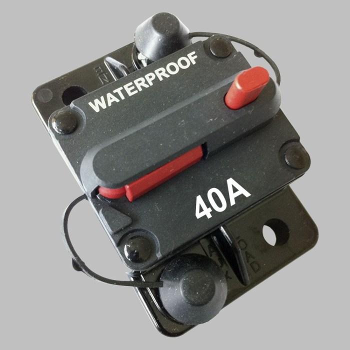 40A Sicherungs-Automat mit Resetschalter 1