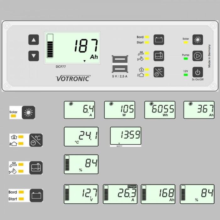 Multi-Panel-System, LCD Anzeige, 12V, Batteriemonitor und 400A Shunt 2