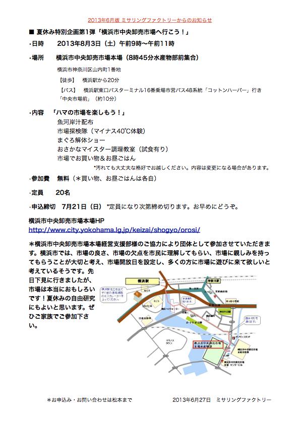 キッチンスタジオ◆横浜ミサリングファクトリー-市場