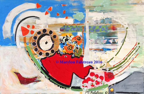 """Free Bird"" Mixed Media Collage 36"" x 24"" $1700"